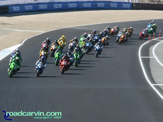 2007 Red Bull U.S. Grand Prix - MotoGP Saturday - Supersport Start